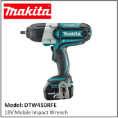MAKITA DTW450RFE 18V Mobile Impact Wrench