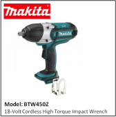 MAKITA BTW450Z 18-Volt Cordless High Torque Impact Wrench