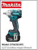 MAKITA DTW281RFE  (1/2'') Cordless Impact Wrench
