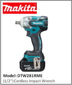 MAKITA DTW281RME (1/2'') Cordless Impact Wrench