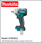 MAKITA DTW281Z 18V Mobile Brushless Impact Wrench