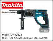 MAKITA  DHR202Z  18V LI-ION 20MM COMBINATION HAMMER