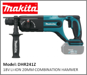 MAKITA DHR241Z 18V LI-ION 20MM COMBINATION HAMMER
