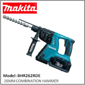 MAKITA BHR262RDE 36V LI-ION 26MM COMBINATION HAMMER