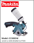 MAKITA CC300DW 10.8V LI-ION 85MM CUTTER