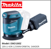 MAKITA DBO180Z 18V LI-ION 125MM ORBITAL SANDER