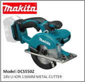 MAKITA DCS550Z 18V LI-ION 136MM METAL CUTTER