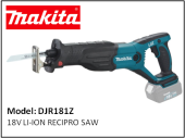 MAKITA DJR181Z 18V LI-ION RECIPRO SAW