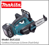 MAKITA BUC122Z Cordless Chainsaw 115mm (Tool Only)