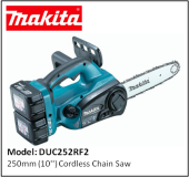 MAKITA DUC252RF2 250mm (10'') Cordless Chain Saw