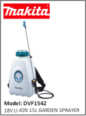 MAKITA  DVF154Z 18V LI-ION 15L GARDEN SPRAYER