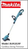 MAKITA BUR181RF Cordless String Trimmer