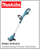 MAKITA BUR181Z Cordless String Trimmer (Tool Only)