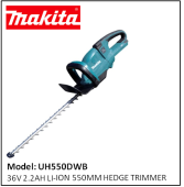 MAKITA UH550DWB 36V 2.2AH LI-ION HEDGE TRIMMER