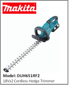 MAKITA DUH651RF2 18Vx2 Cordless Hedge Trimmer