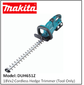 MAKITA DUH651Z 18Vx2 CORDLESS HEDGE TRIMMER (TOOL ONLY)