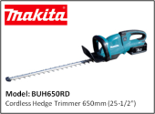 MAKITA BUH650RD CORDLESS HEDGE TRIMMER - 36V