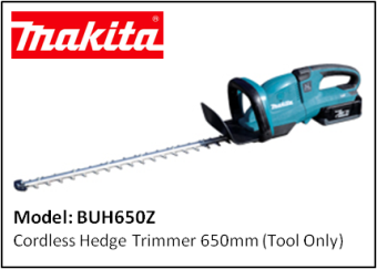MAKITA BUH650Z CORDLESS HEDGE TRIMMER (TOOL ONLY)
