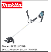 MAKITA BC231UDWB 36V 2.2AH LI-ION BRUSH TRIMMER