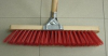 "STREET BROOM RED C/W HANDLE ""5ROW"""