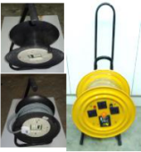 4WAY X 3PIN CABLE REEL C/W  3CX1.5MMSQX30METR CABLE