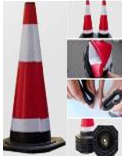 SANKI SAFETY RUBBER CONE BASE BLACK