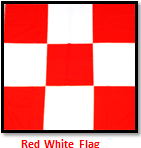 RED AND WHITE CHECKER FLAG ''SQ''