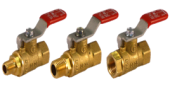 "1/4""  ""MALE THREAD / HOSE END 8MM "" SANKI BRASS MINI BALLVALVE"