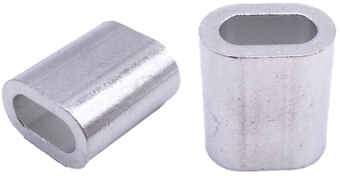ALUM FERRULE SINGLE EYE 2.5MM