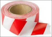 SANKI SAFETY BARRICADE TAPE 100M (RED & WHITE)
