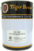 TIGER COLD GALVANISED PAINT SILVER 1.0L (CG208)