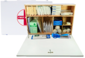 FIRST AID WOODEN BOX B - (50 PERSONS USE)
